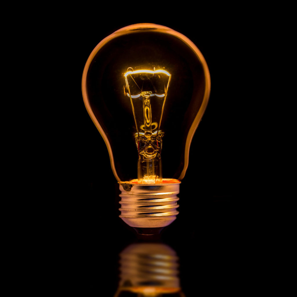 Lightbulb representing creative ideas.